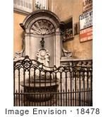 #18478 Photo Of The Fountain Of Manneken Pis Brussels Belgium