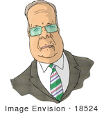 #18524 Politician Karl Christian Rove Clipart