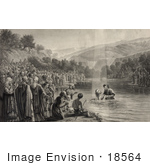 #18564 Photo Of People Watching The Baptism Of Christ
