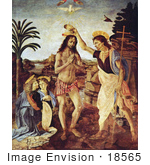 #18565 Photo of The Baptism of Jesus Christ by Andrea del Verrocchio by JVPD