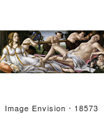 #18573 Photo Of A Painting Of The Gods Venus And Mars And Satyrs By Alessandro Botticelli