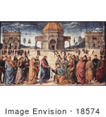 #18574 Photo of Jesus Christ Handing the Keys to Heaven to Apostle Peter by JVPD
