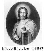 #18597 Photo Of Jesus Christ Holding His Heart In His Hand