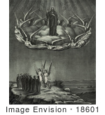 #18601 Photo of The Ascension of Jesus Christ With Angels and the 12 Apostles by JVPD