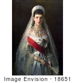 #18651 Photo Of A Painting Of Maria Feodorovna Of Russia