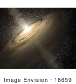 #18659 Stock Photo Of A Dusty Disk Circling A Star In Outer Space