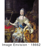 #18662 Photo Of Queen Catherine Ii Of Russia With A Wand Catherine The Great