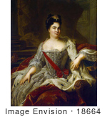 #18664 Photo Of Queen Catherine I Of Russia Painted By Jean-Marc Nattier C 1717