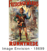 #18699 Photo Of Frederick Warde As Robin Hood In Runnymede