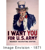 #1871 Uncle Sam - I Want You For Us Army