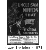 #1873 Uncle Sam Needs That Extra Shovelful