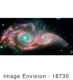 #18730 Photo Of Galaxies Ngc 2207 And Ic 2163 Merging As One And Forming A Mask