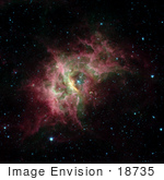 #18735 Photo Of The Rcw 49 Nebula In The Centaurus Constellation