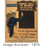 #1874 Uncle Sam About To Write On A Blackboard With Chalk