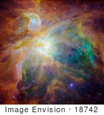 #18742 Photo Of Chaos Caused By Infant Stars In The Orion Nebula (Messier 42 M4 Ngc 1976 Great Nebula In Orion Great Orion Nebula Ensis)