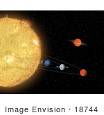 #18744 Photo Of A Hypothetical Solar System Around A Sun