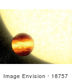 #18757 Photo Of A Gas Giant Planet In Orbit By Its Parent Star
