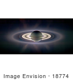 #18774 Photo Of An Eclipse Of Saturn And The Sun
