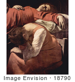 #18790 Photo Of A Woman Mourning At The Bedside During The Death Of The Virgin