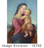 #18793 Photo of a Woman Holding a Baby, Tempi Madonna by Raphael by JVPD