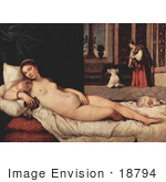 #18794 Photo of a Beautiful Fine Art Nude of a Reclined Woman by Tiziano Vecelli by JVPD