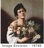 #18796 Photo Of A Young Man Holding A Basket Of Fruit