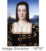 #18797 Photo of a Portrait of Elisabetta Gonzaga Wearing a Scorpion Diadem, by Raphael Sanzio by JVPD