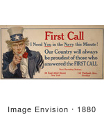 #1880 First Call I Need You In The Navy This Minute!