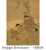#18804 Photo Of Japanese Children Playing Tug Of War