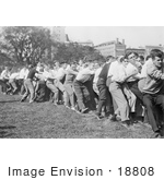 #18808 Photo Of Young College Men Playing Tug Of War At Columbia University