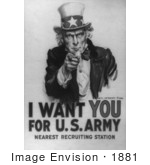 #1881 Uncle Sam - I Want You For Us Army