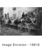 #18816 Photo of a Horse Drawn Hearse Carriage on the Way to a Funeral by JVPD