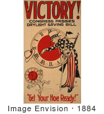 #1884 Victory! Congress Passes Daylight Saving Bill Uncle Sam