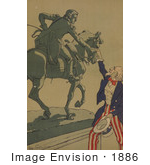 #1886 Uncle Sam Shaking Hands With The Marquis De Lafayette