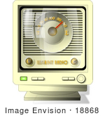 #18868 Internet Radio Station Displayed On A Computer Monitor Clipart
