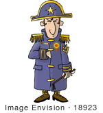 #18923 Napoleon in a Uniform Clipart by DJArt