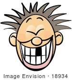 #18934 Boy Smiling Showing A Missing Front Tooth Clipart