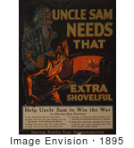 #1895 Uncle Sam Needs That Extra Shovelful