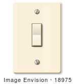 #18975 Simple Electrical Wall Switch Clipart