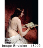 #18995 Photo of a Beautiful Nude Woman, Odalisque, Reading a Book by Francesco Hayez by JVPD