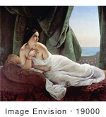 #19000 Photo of Odalisque Reclining, Nude and Wrapped in a Sheet, by Francesco Hayez by JVPD