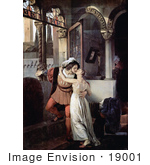 #19001 Photo of a Man and Woman Embracing and Kissing Passionately, Romeo and Juliet by JVPD