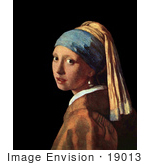 #19013 Photo Of The Girl With A Pearl Earring By Johannes Vermeer