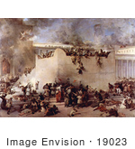 #19023 Photo of the Destruction of the Temple of Jerusalem by Francesco Hayez by JVPD