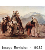 #19032 Photo Of The Meeting Of Jacob And Esau By A Camel