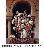 #19036 Photo Of A Vase Of Flowers On The Window Of A Harem By Francesco Hayez