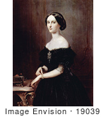 #19039 Photo Of A Beautiful Veneitan Woman Standing By A Jewelry Box And Table