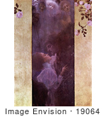 #19064 Photo of Lovers Embracing About to Engage in a Passionate Kiss by Gustav Klimt by JVPD