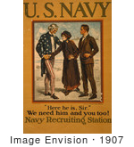 #1907 Uncle Sam Navy Recruiting