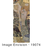 #19074 Photo Of Wasserschlangen The Hydra Watersnakes Or Water Serpents I By Gustav Klimt